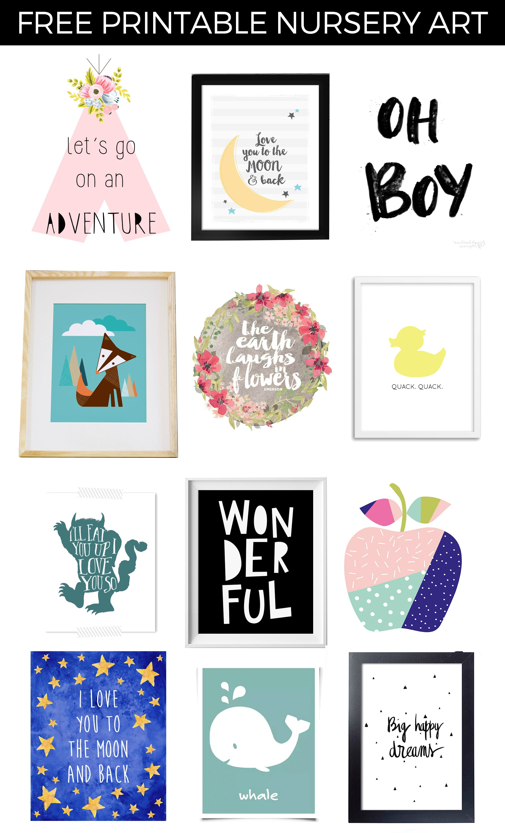 photograph regarding Free Printable Nursery Art identified as Absolutely free Printable Nursery Artwork - Venture Nursery