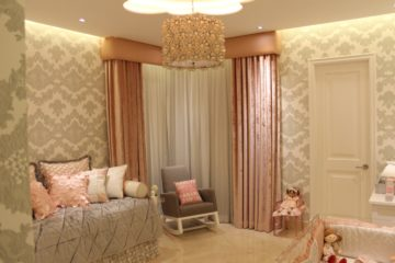 Silver, White and Pink Princess Nursery