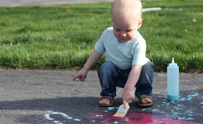DIY Sidewalk Chalk Paint - Project Nursery