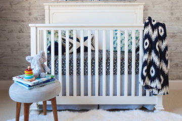 Gray, Navy and White Rustic Nursery