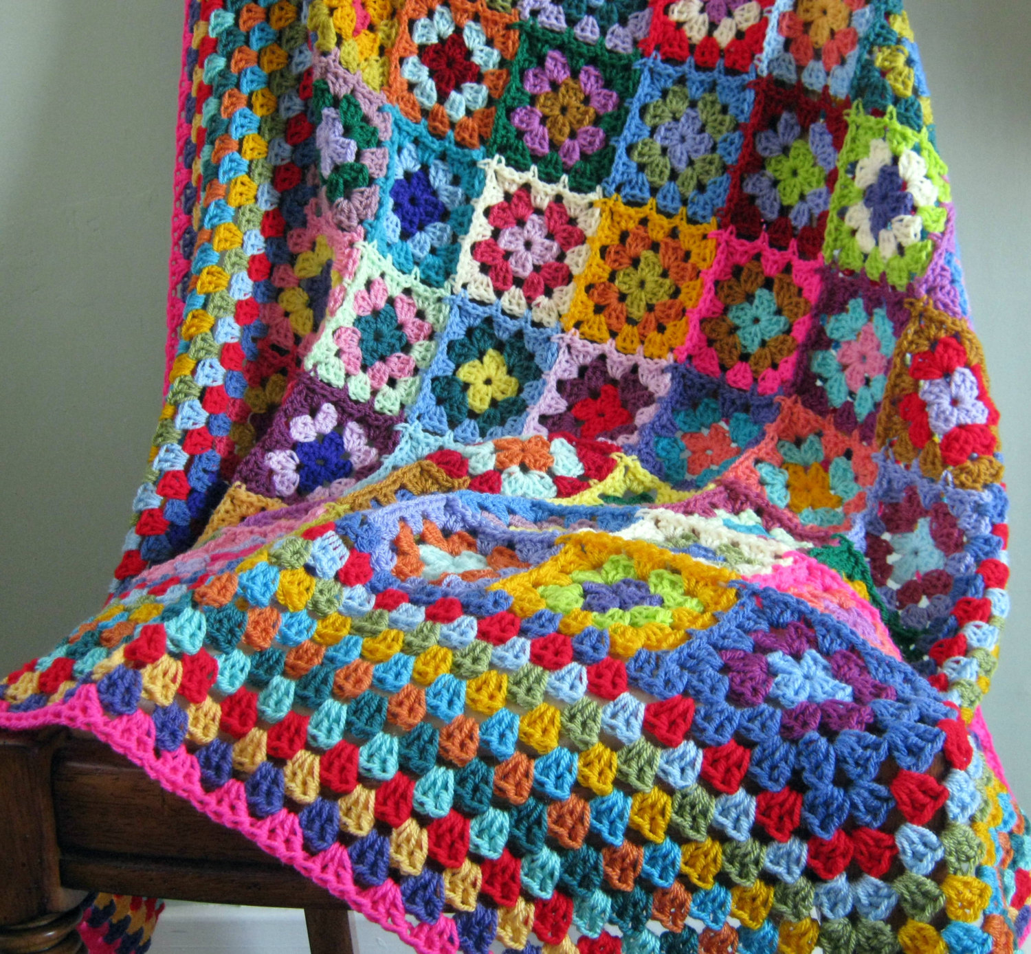 Granny Square Crochet Blanket from The Sunroom UK on Etsy