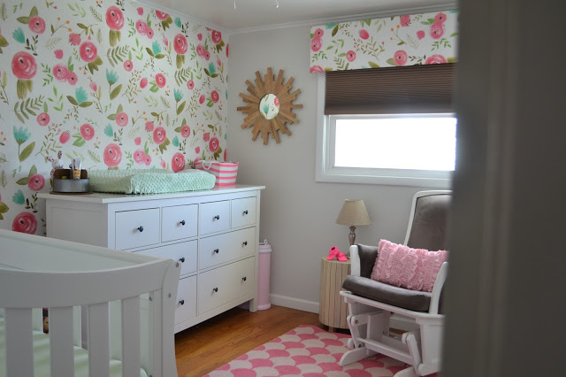 How I Used Spoonflower Wallpaper to Customize Our Daughter's