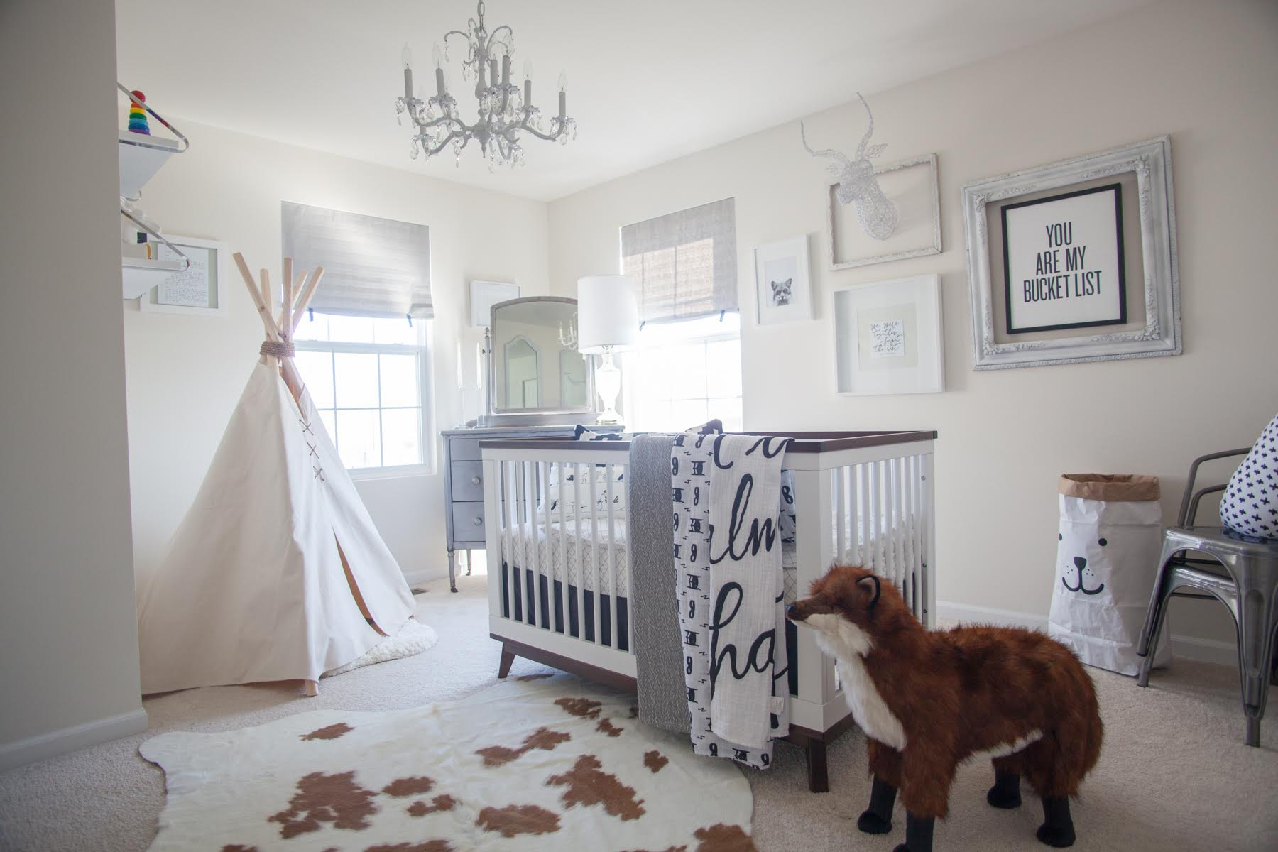Whimsical Black and White Nursery
