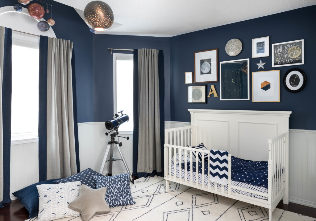 Navy Blue and White Celestial Nursery - Project Nursery