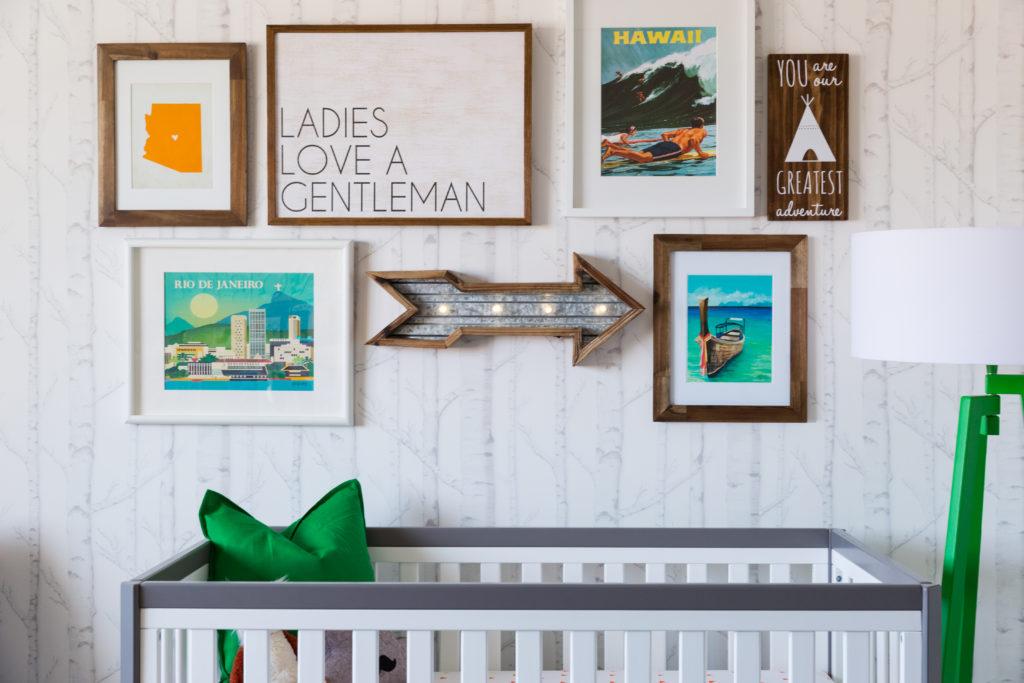 Adventure-Inspired Nursery Gallery Wall