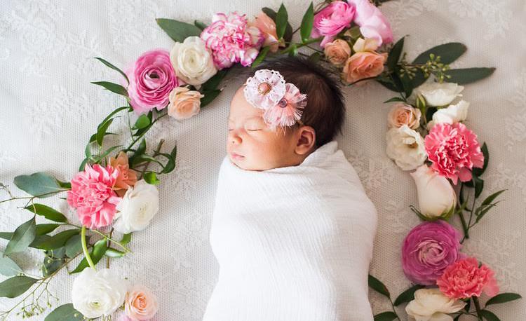 Newborn Photo Trend Floral Wreaths Project Nursery
