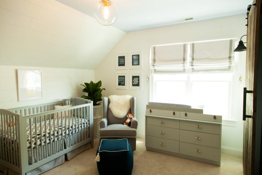 Gray and White Fox Nursery - Project Nursery