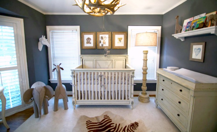 Navy Blue Safari Nursery - Project Nursery