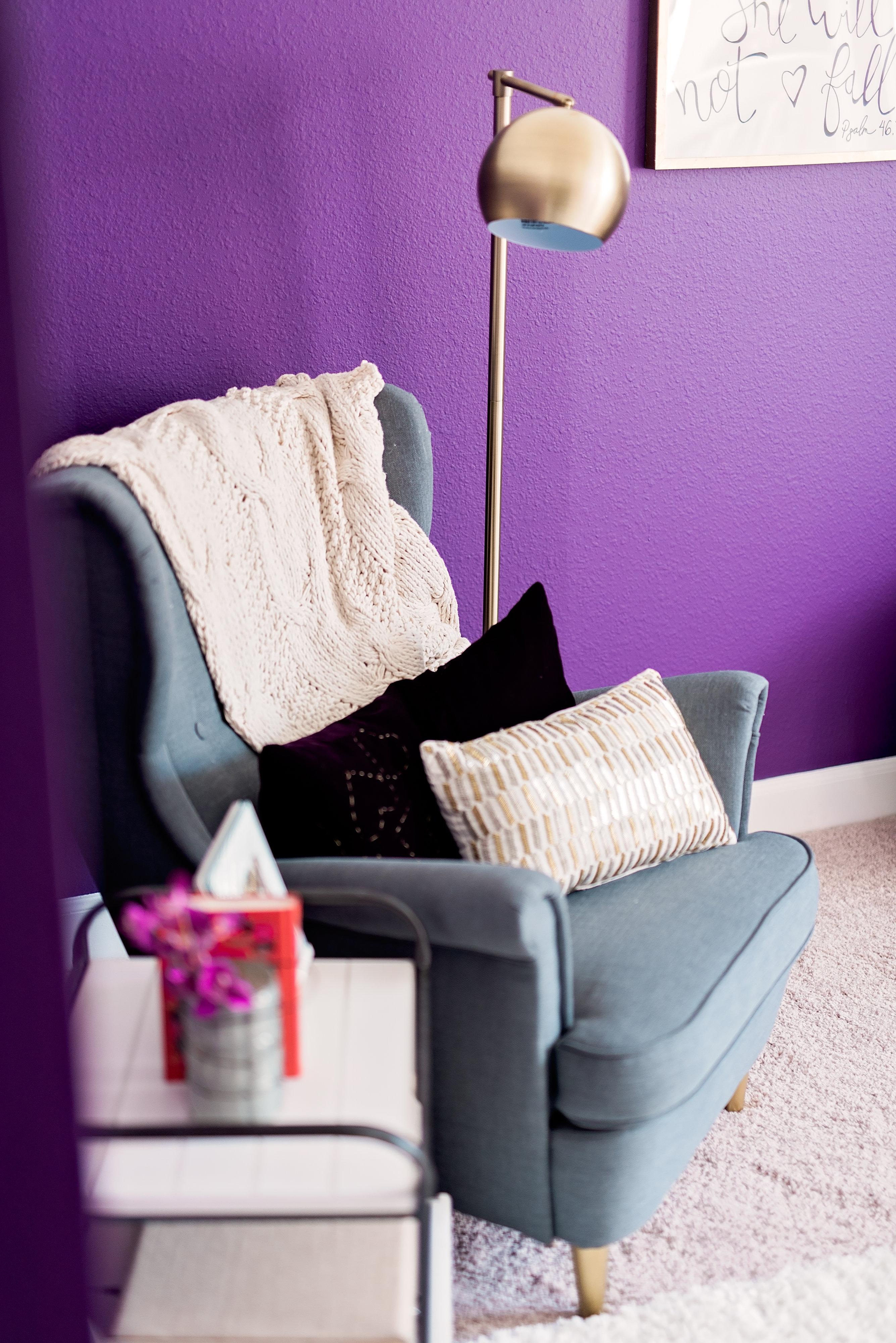 Purple and Gold Nursery
