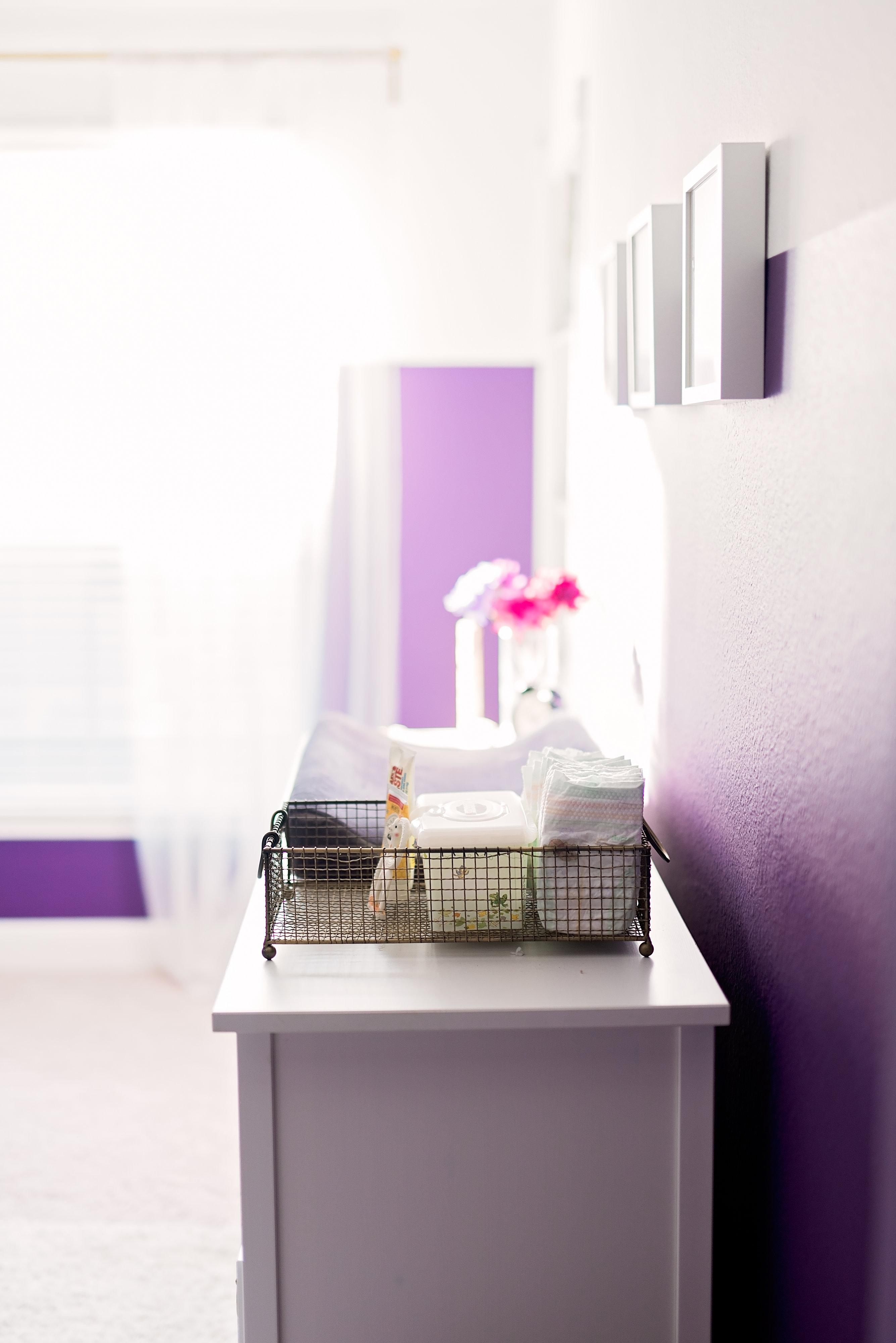 Feminine Purple Nursery