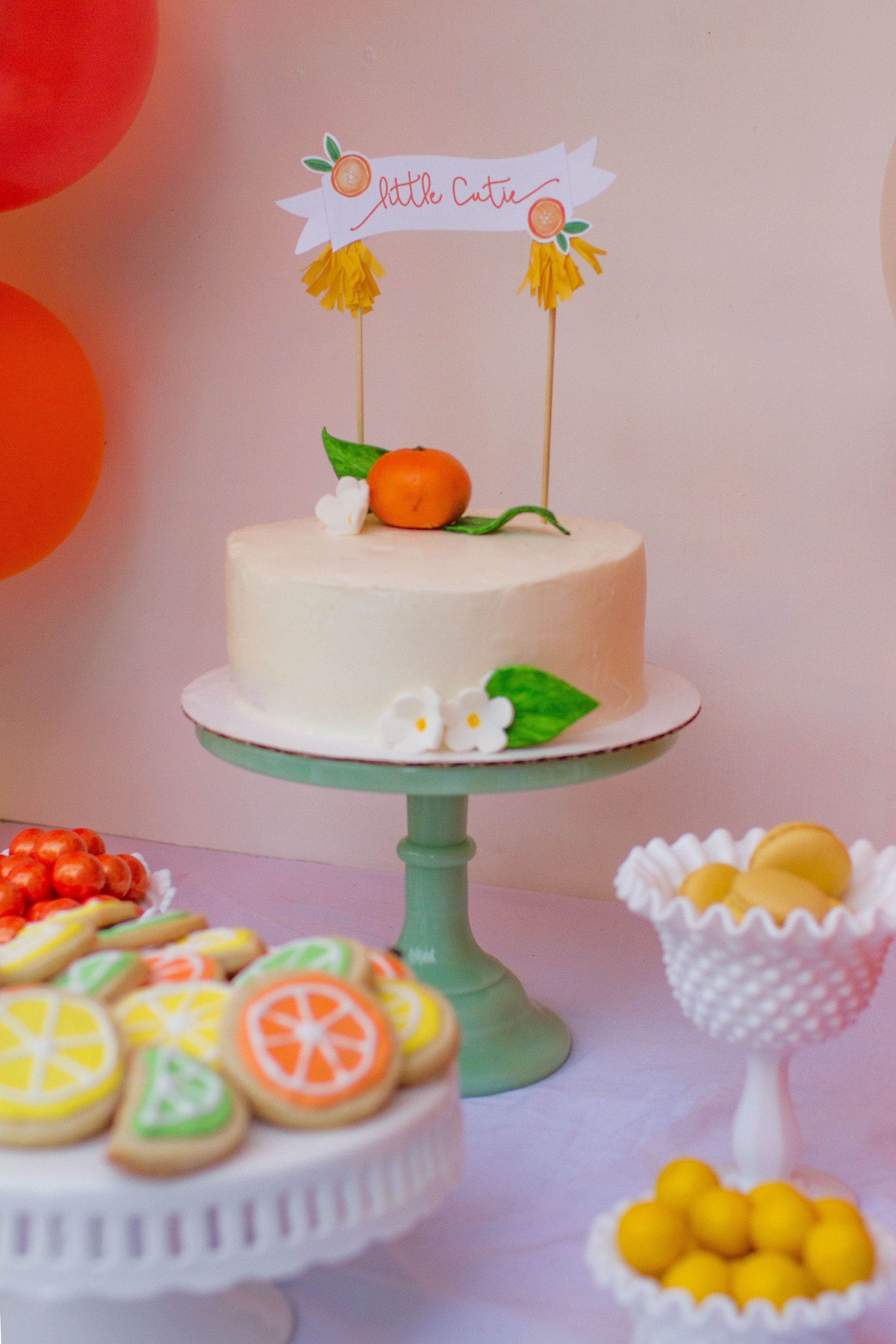 Citrus Baby Shower Sweets Table