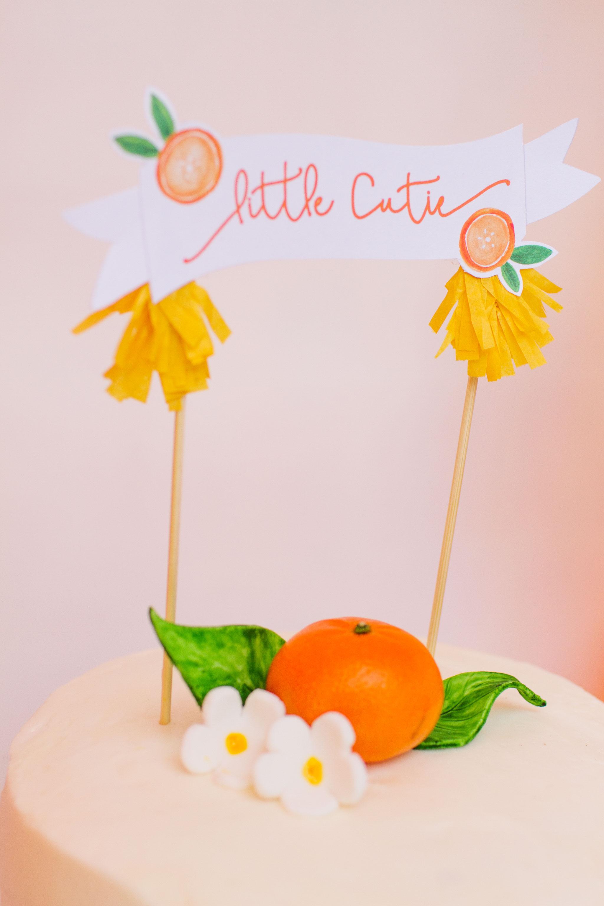Citrus Baby Shower Cake Topper
