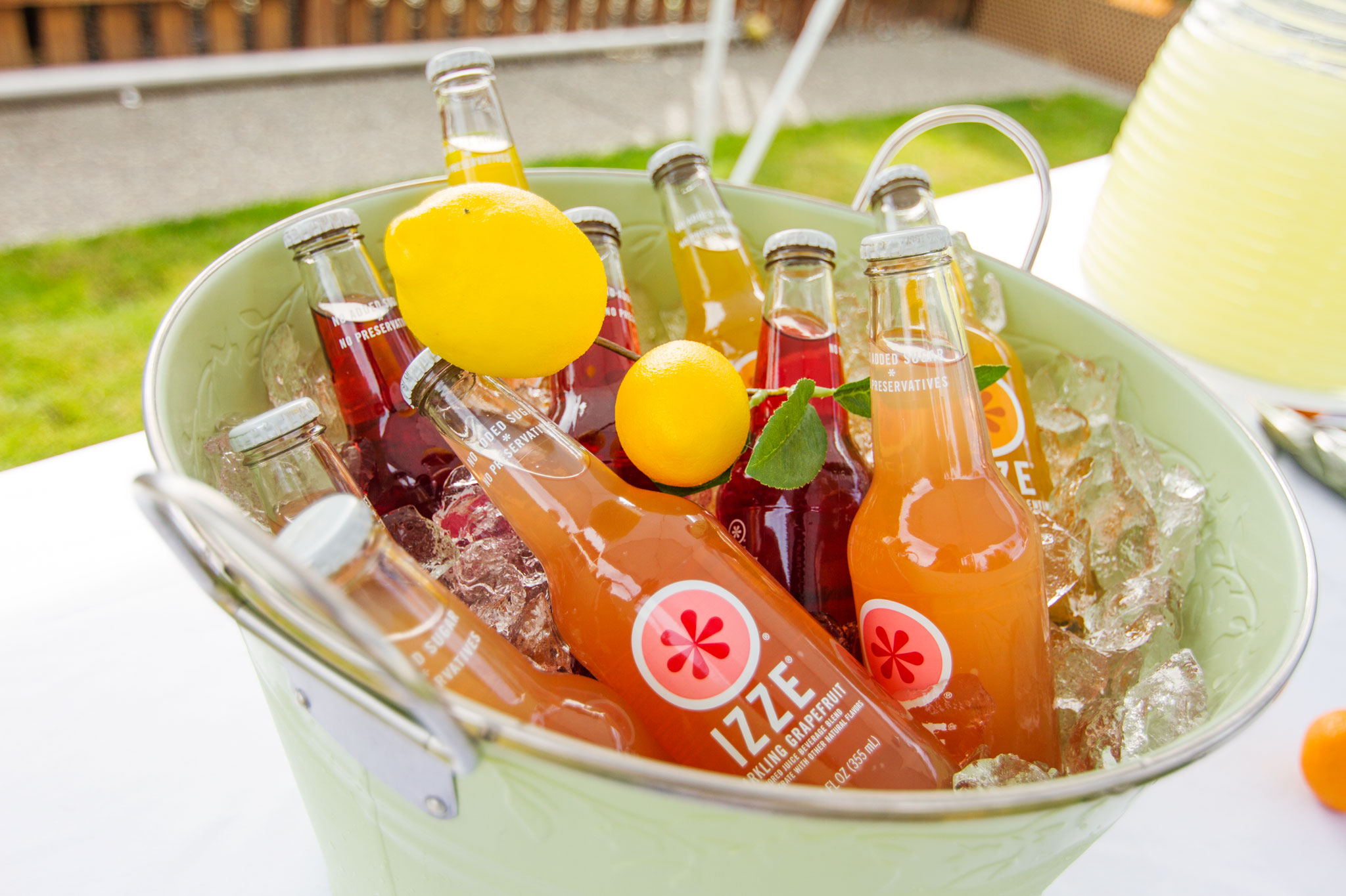 Citrus Baby Shower Beverages