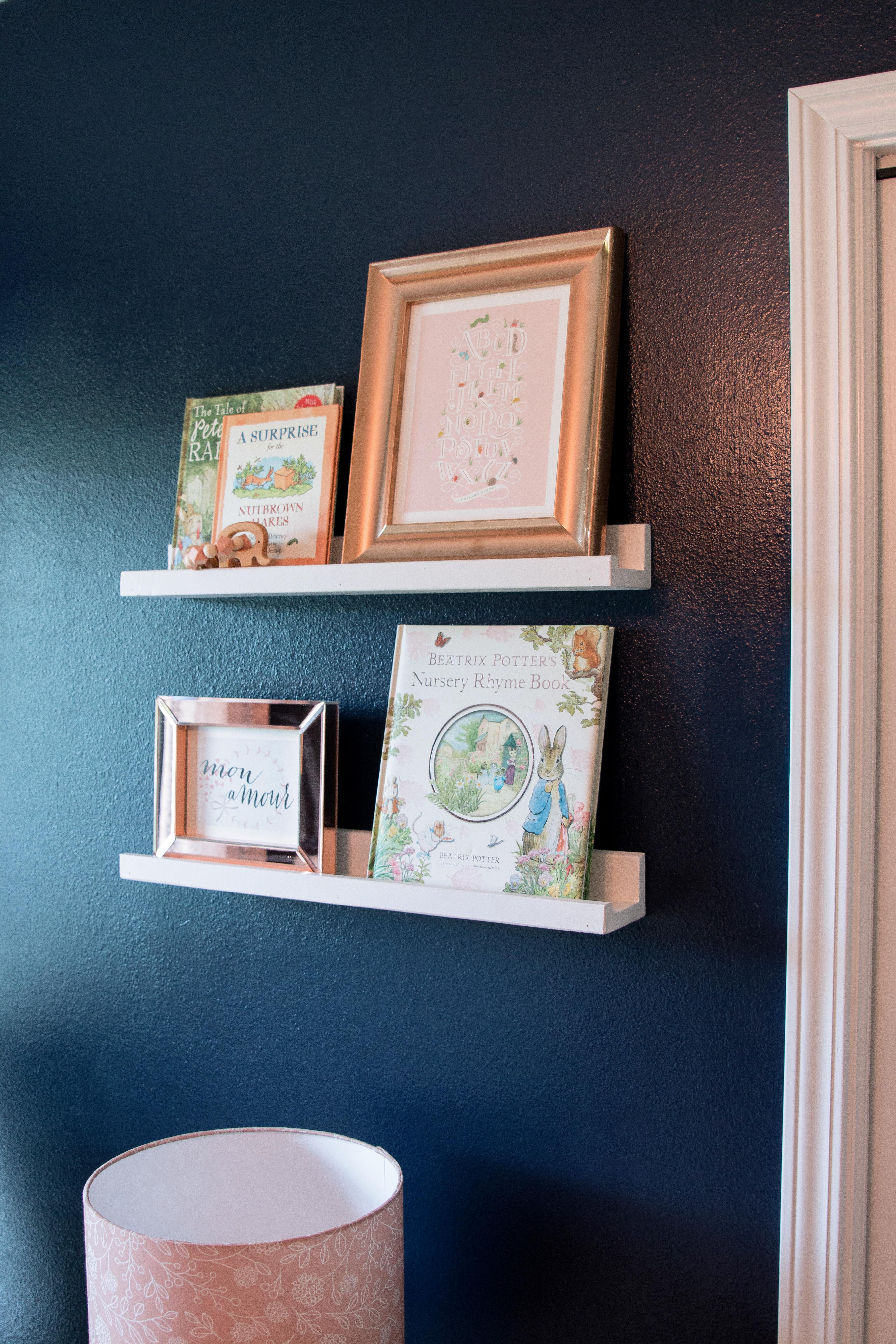 Nursery Book and Photo Ledges