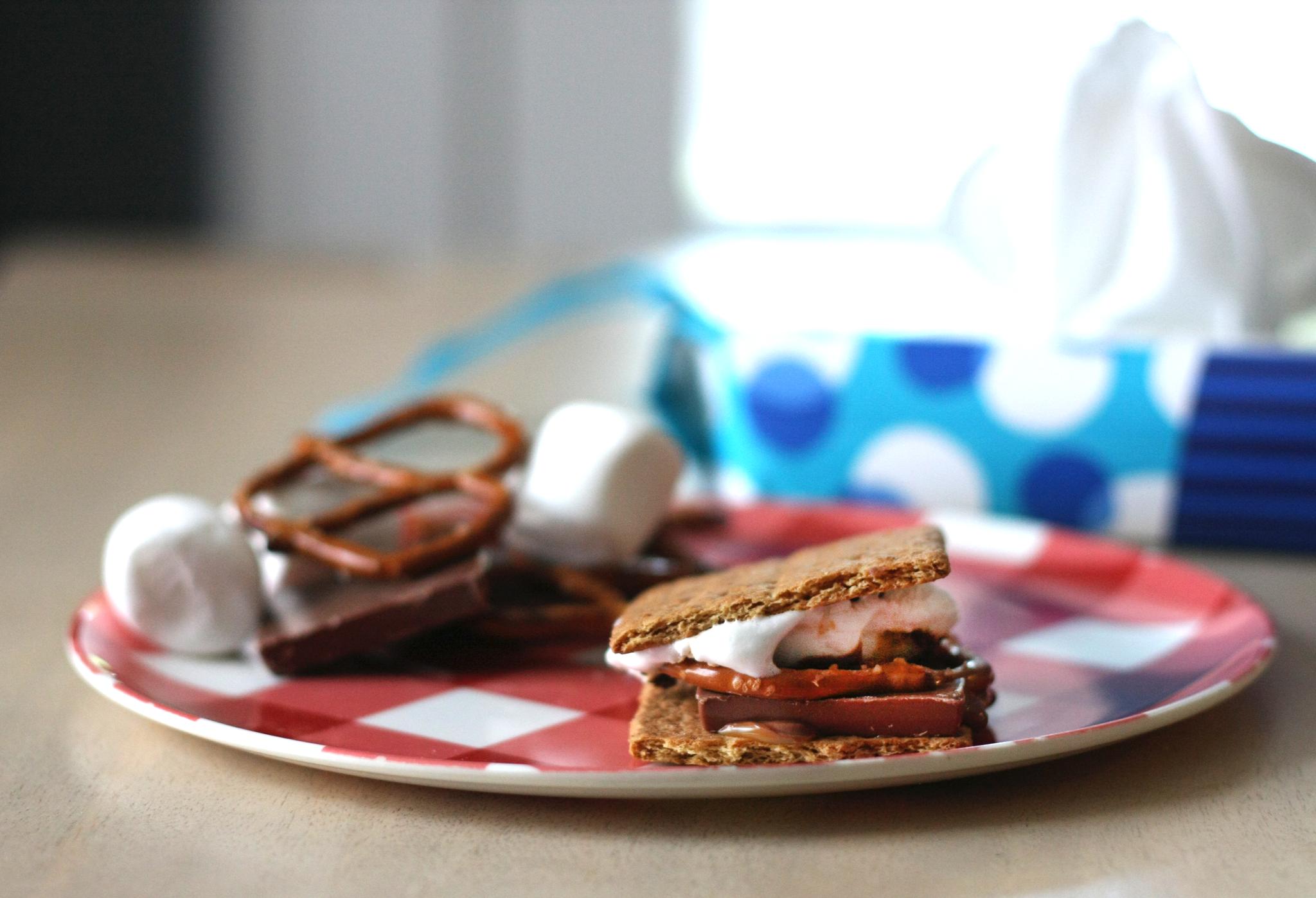 Salted Caramel Pretzel S'mores Recipe