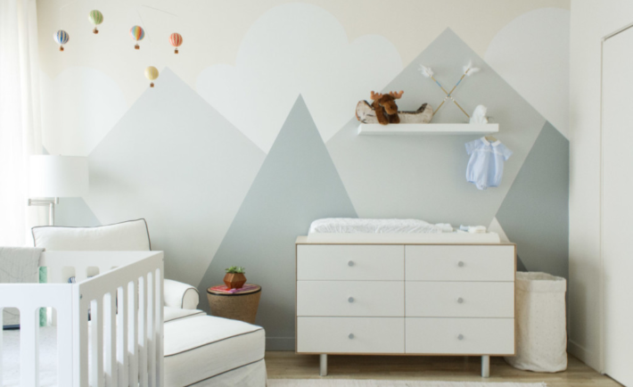Mountain Mural in Nursery