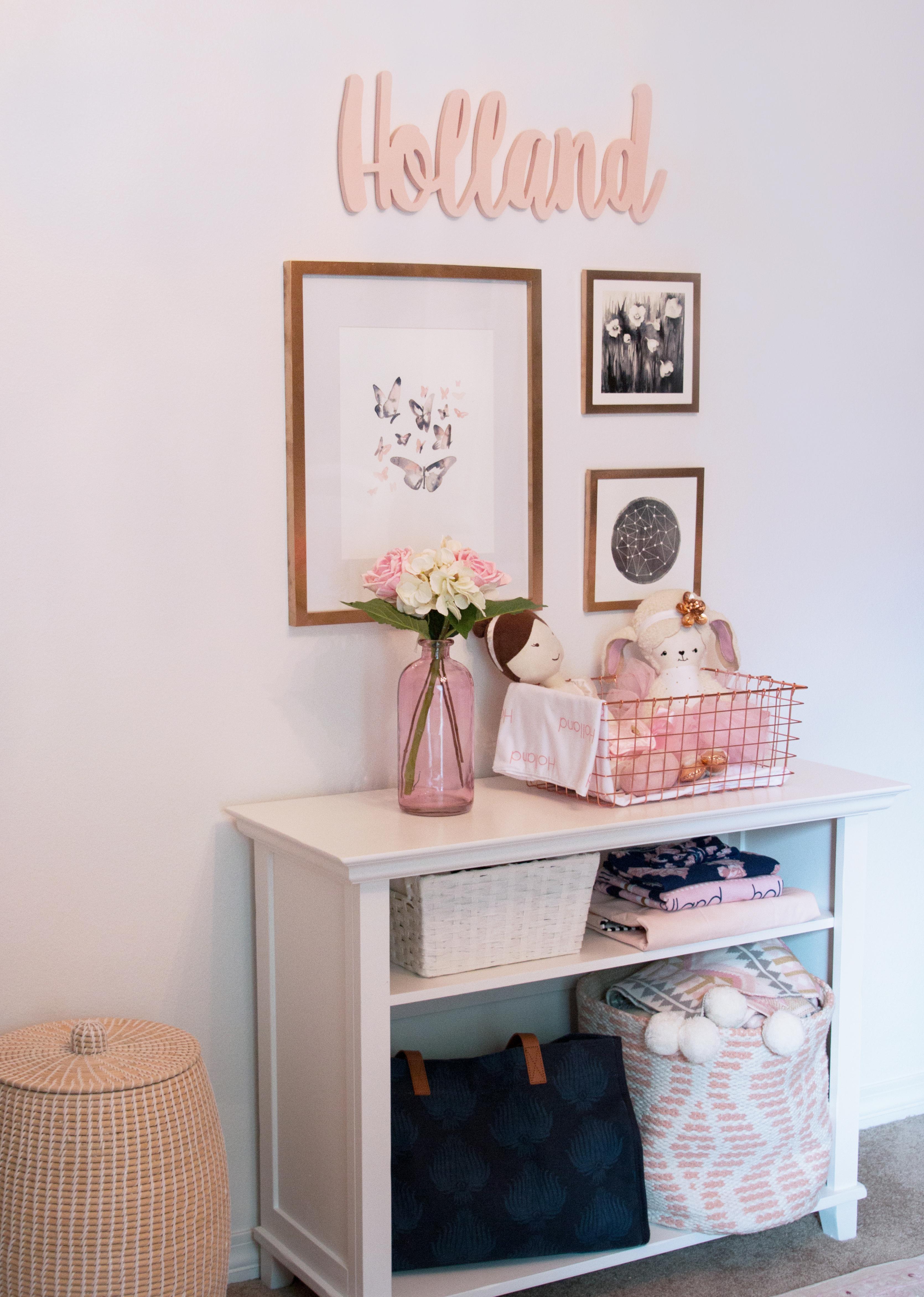 Soft Pink Nursery Decor