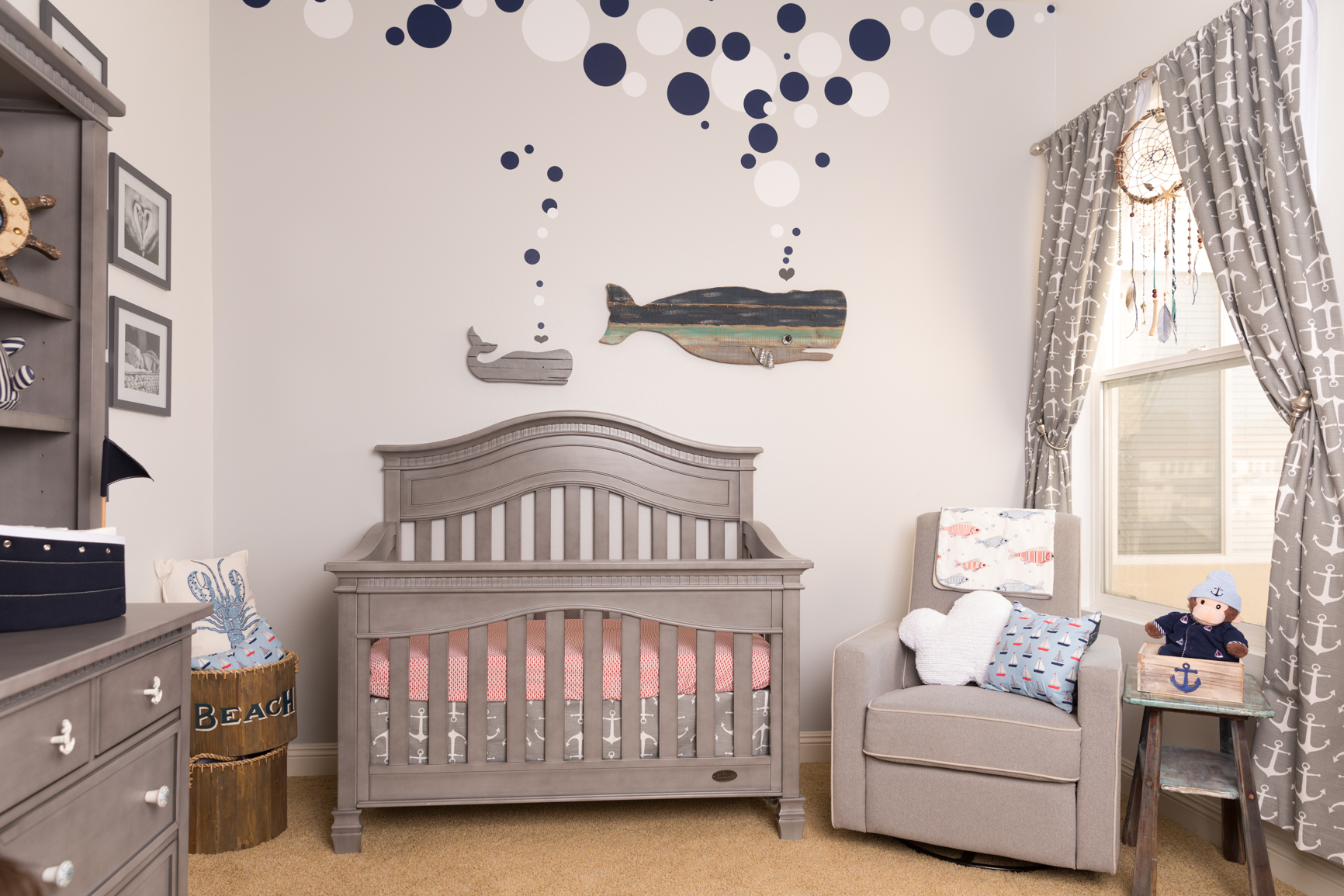 Gray and White Nautical Nursery