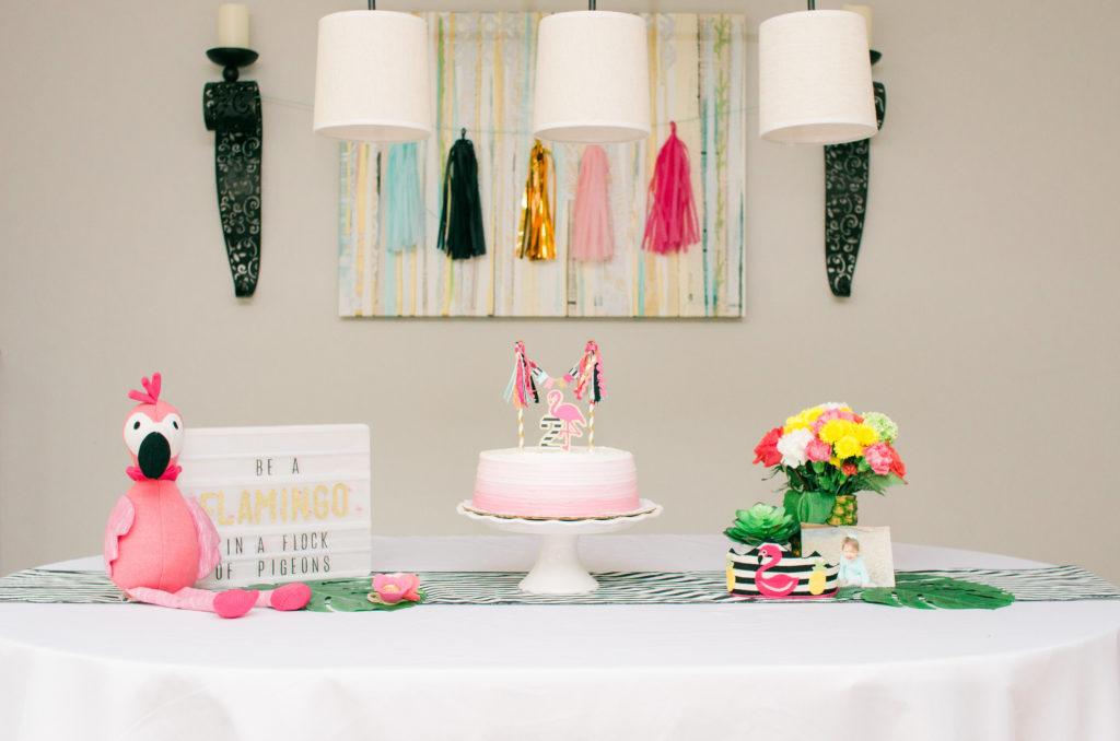Flamingo Second Birthday Party