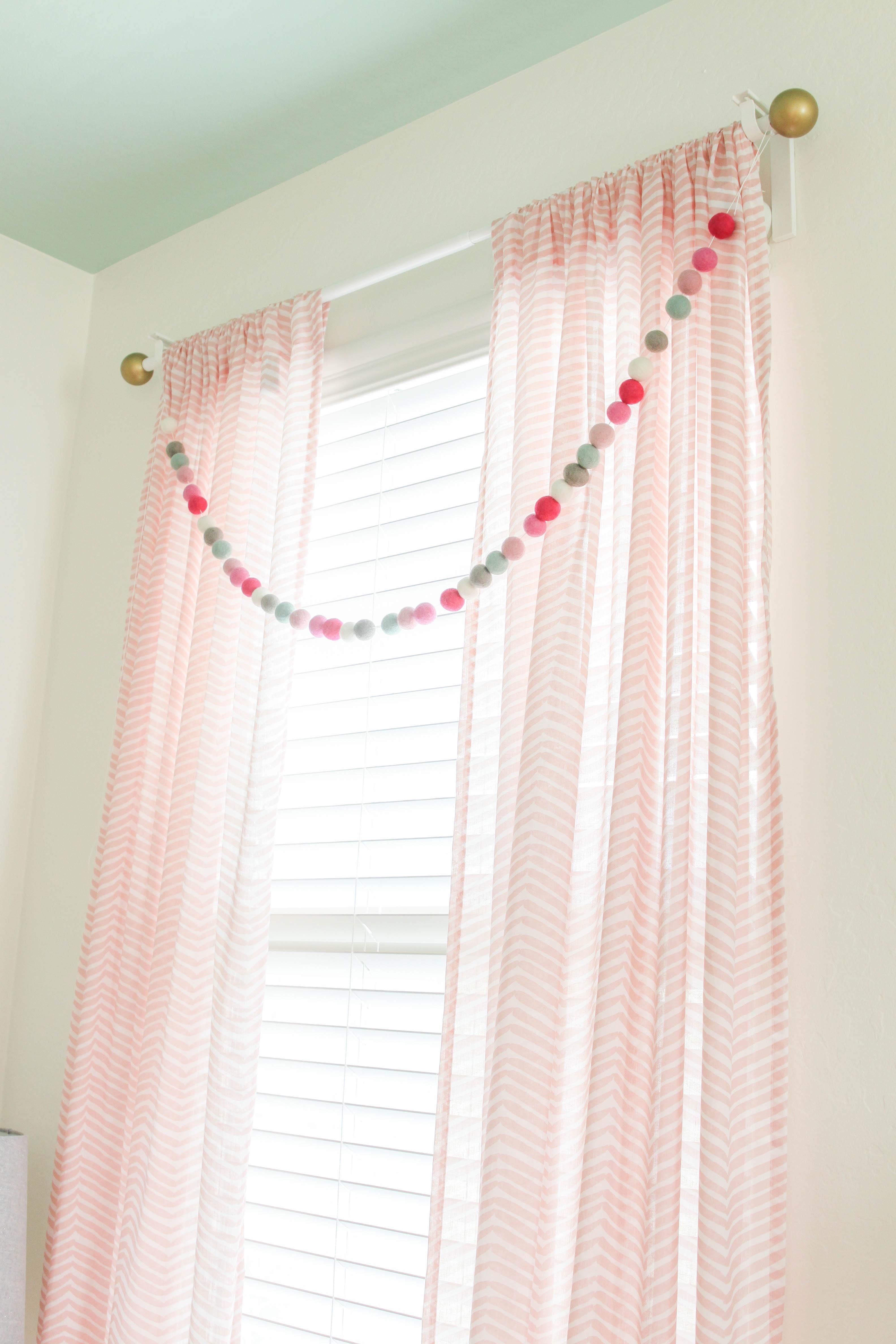 Girls Nursery Window Treatment