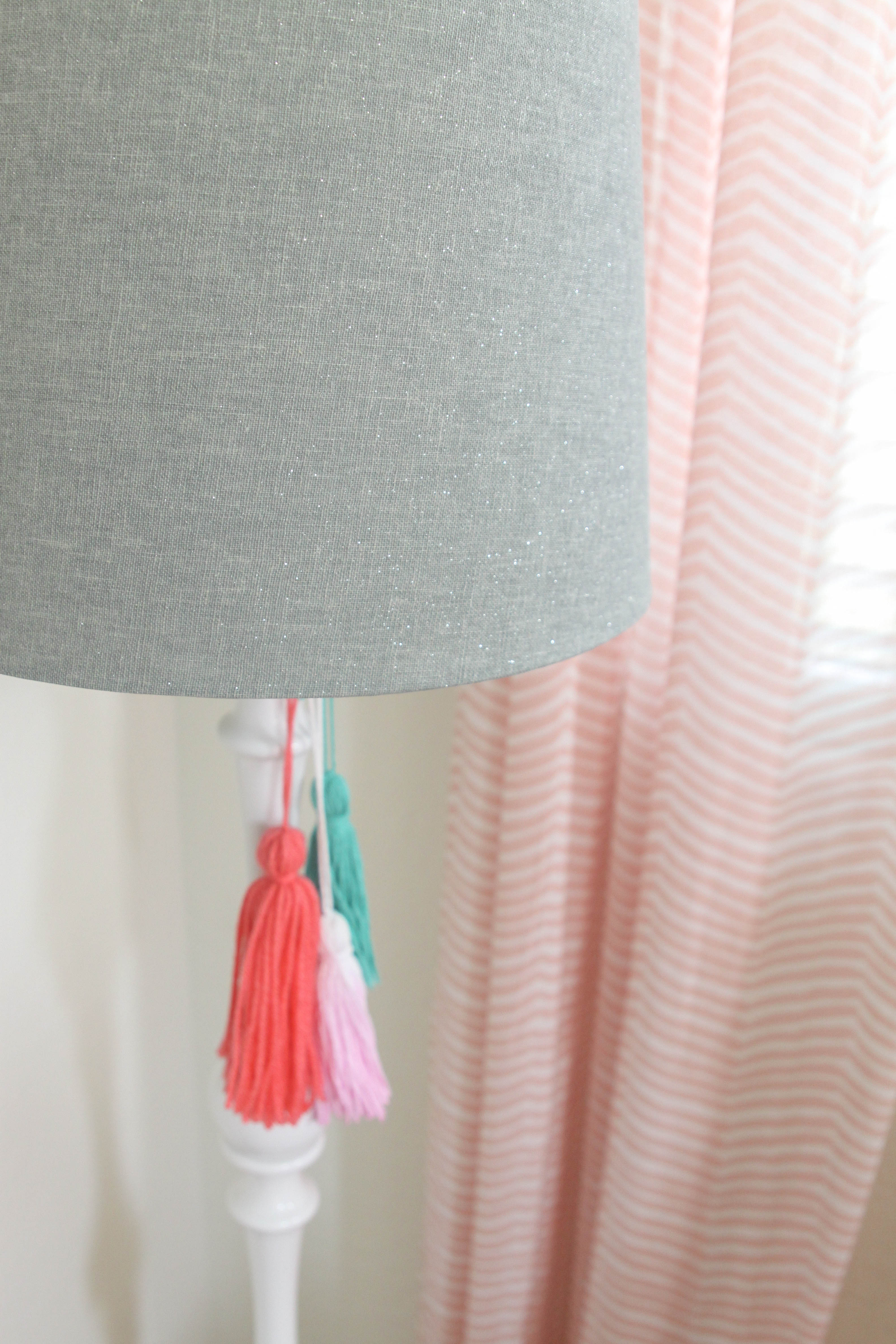 Lamp with DIY Tassels