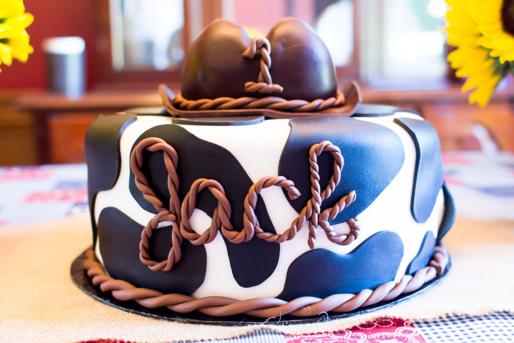 Cowboy Themed Birthday Cake