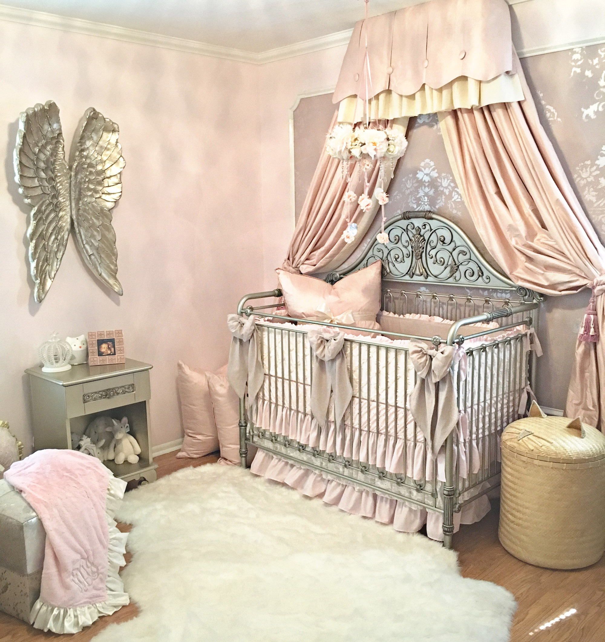 Harlow S Vintage Glam Blush Nursery Project Nursery