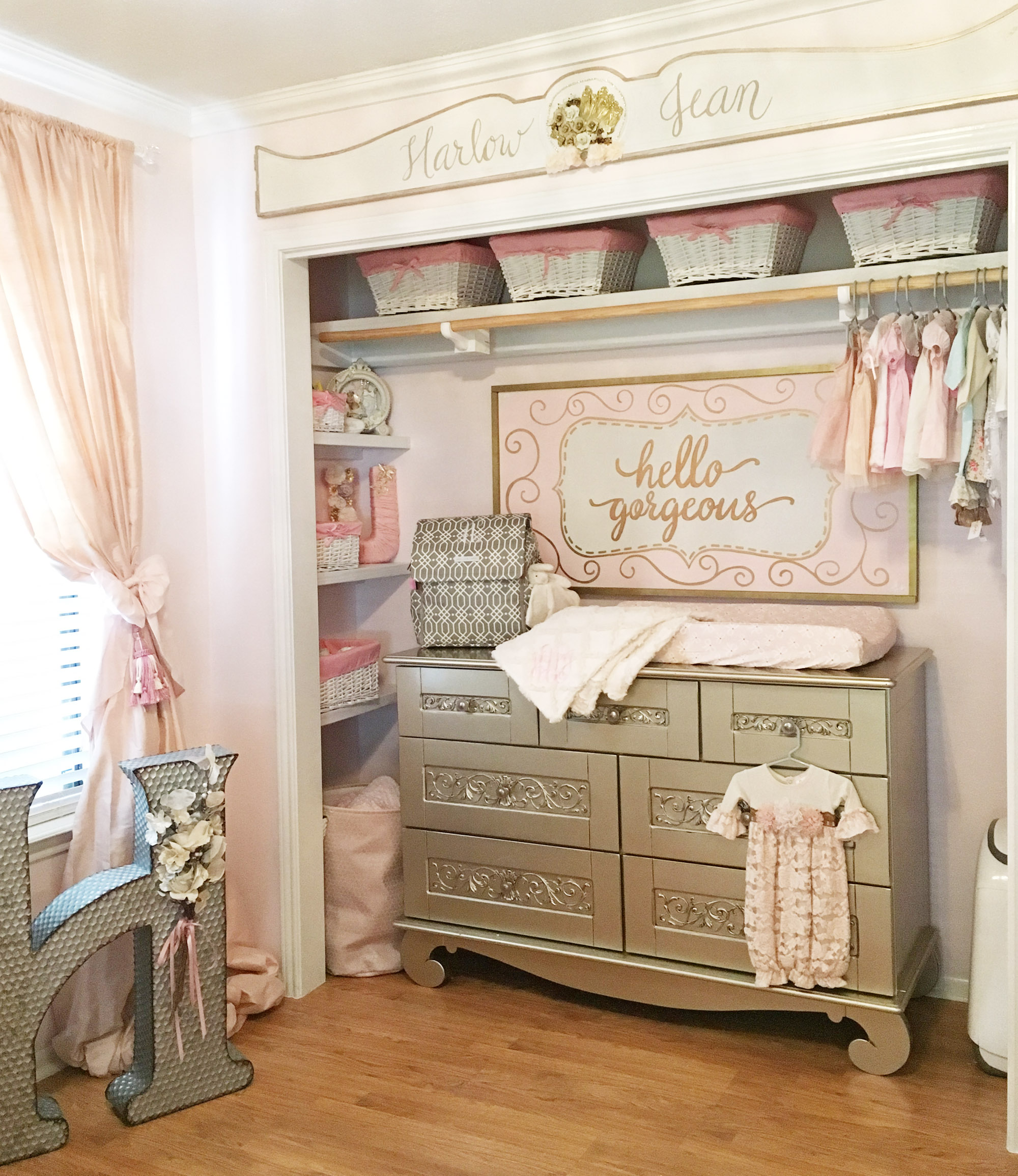 Pink and Gold Vintage Glam Nursery