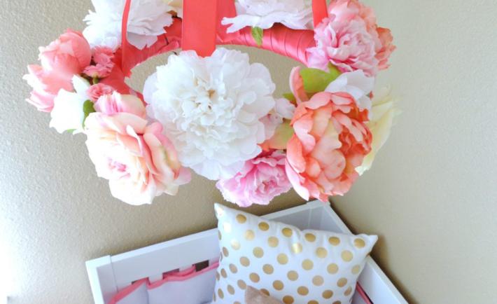 Flower Wreath Mobile