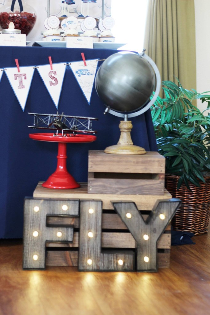 Aviation-Themed Baby Shower Decor - Project Nursery