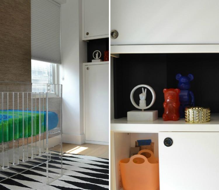 Modern Black and White Nursery Storage