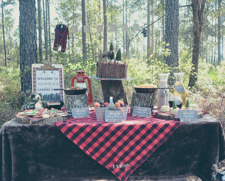 LumberJack Logging Camp 1st Birthday Party