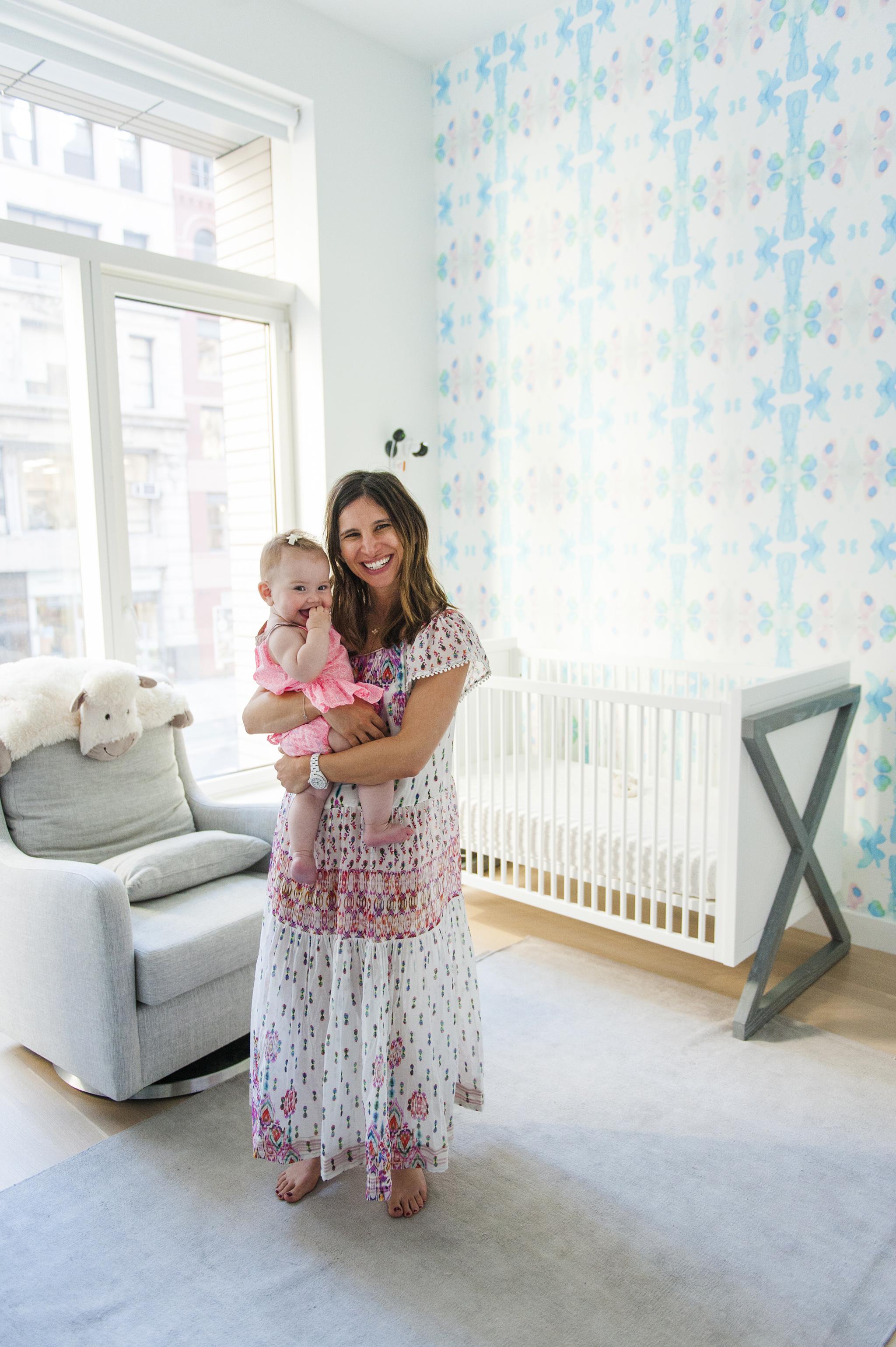 Amanda Freeman's Modern Eclectic Girls Nursery