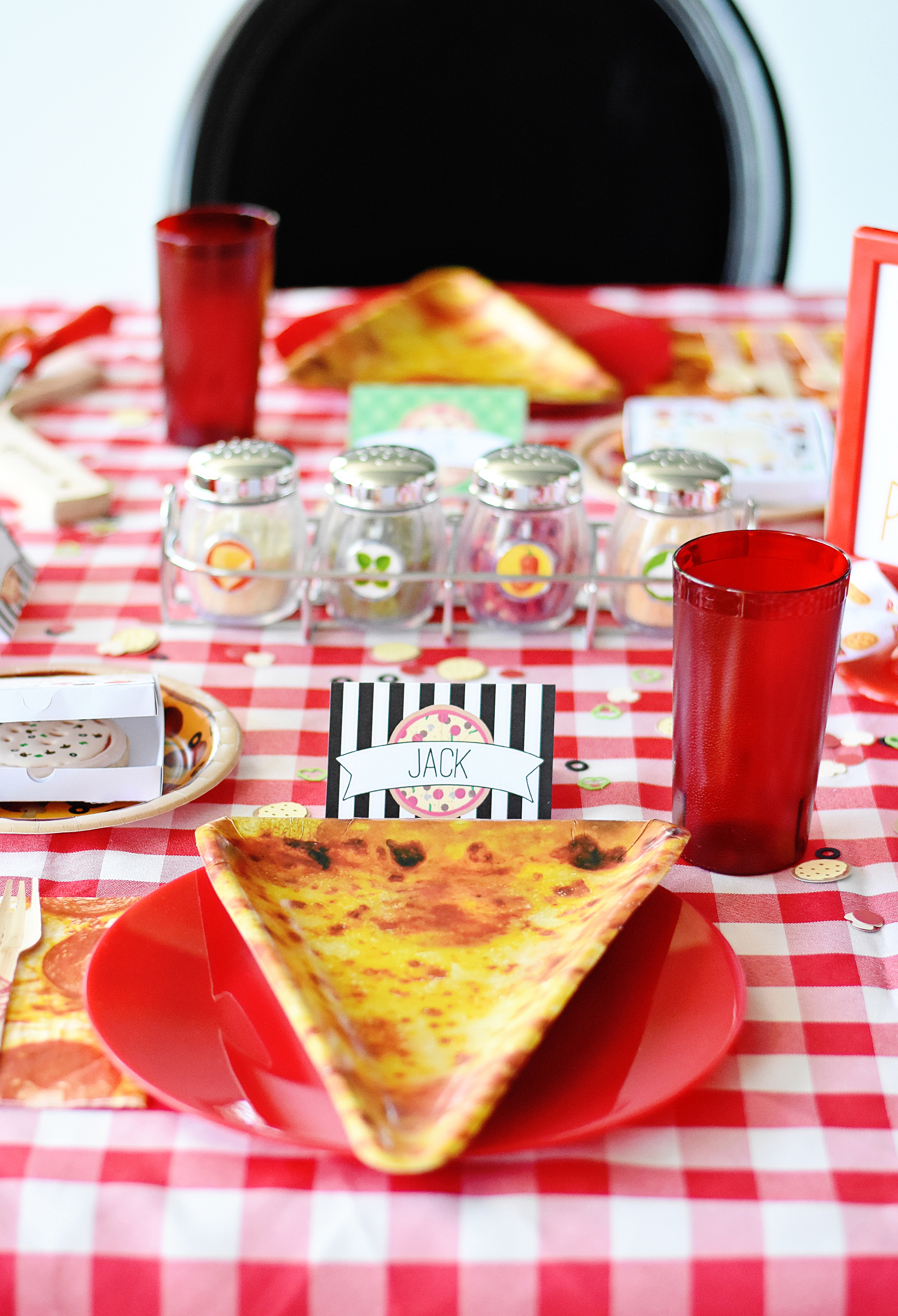 Pizza Party Place Settings