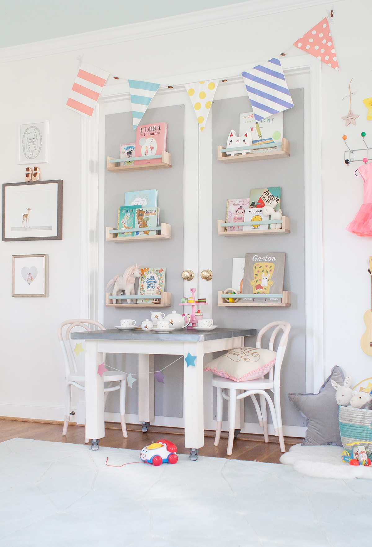 Play Table and Book Wall in Nursery