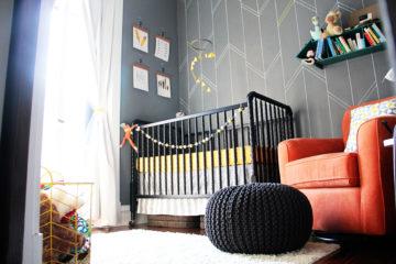 Yellow and Gray Arrow Nursery
