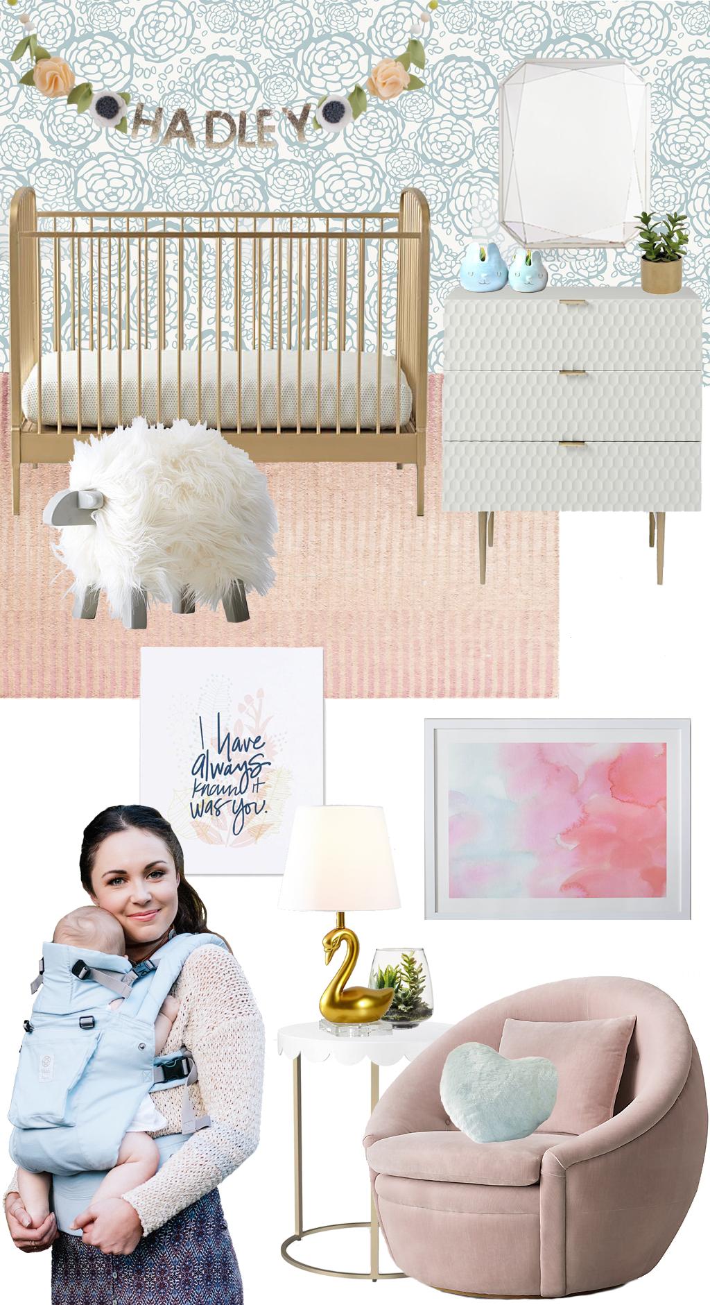 Modern Pastel Nursery Design