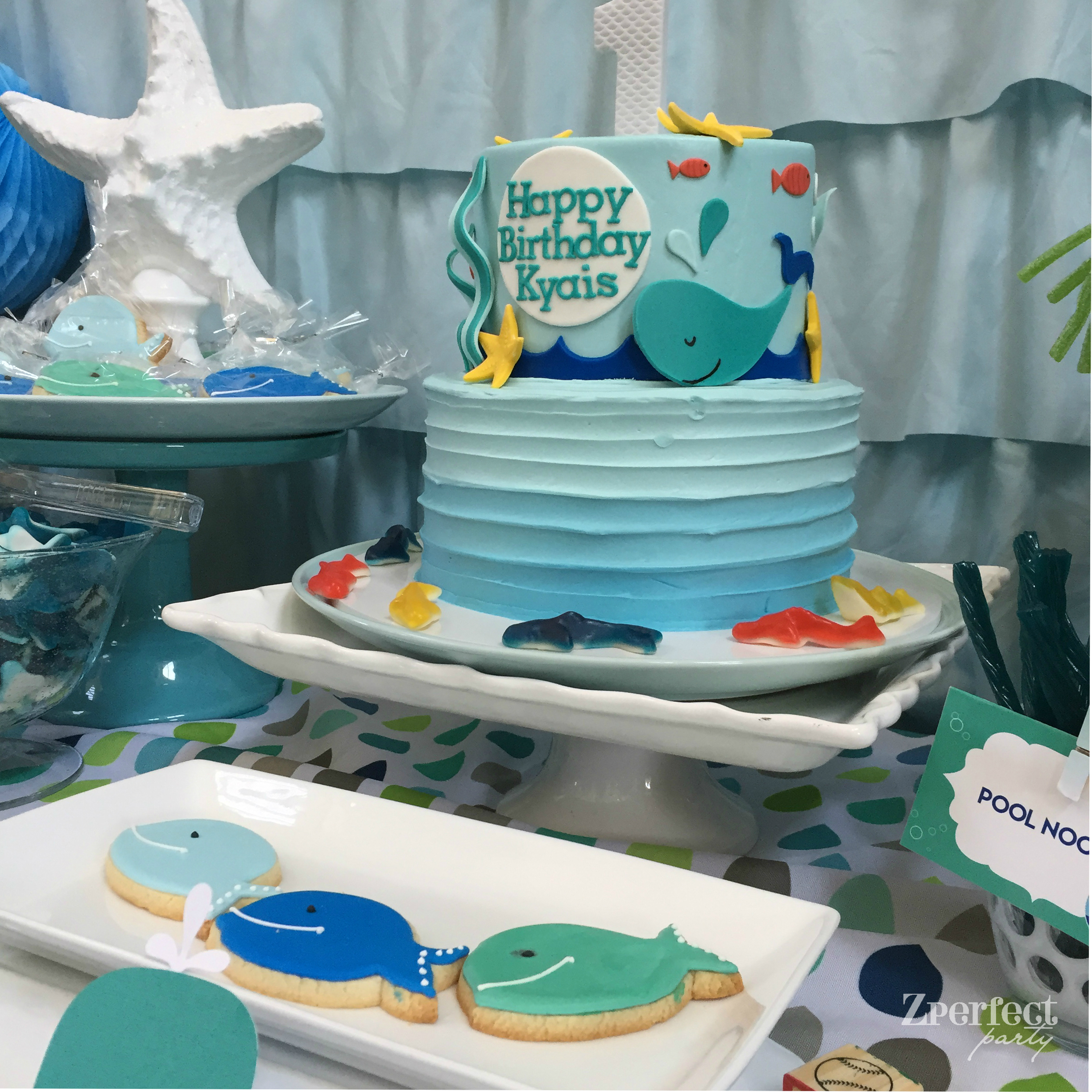 Whale Themed First Birthday Project Nursery