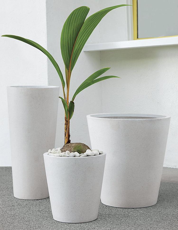 Small Polyterrazo Planter from cb2