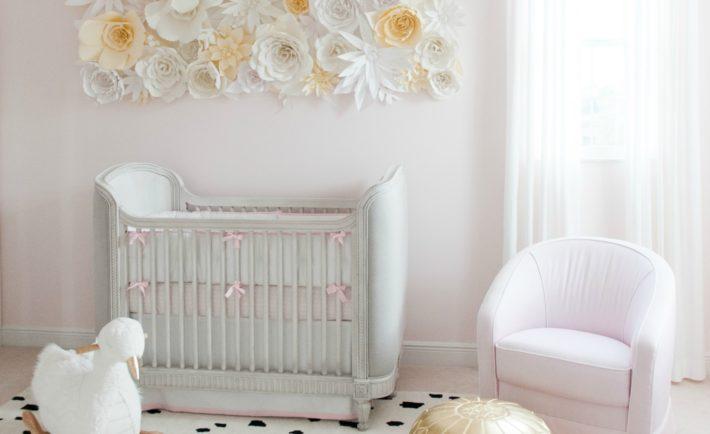 Feminine Swan-Inspired Nursery