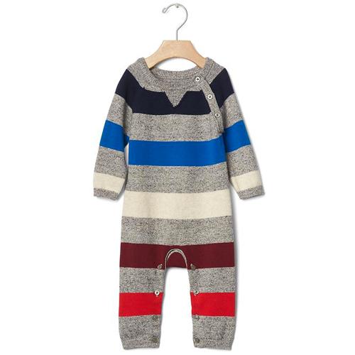 Striped Sweater One Piece