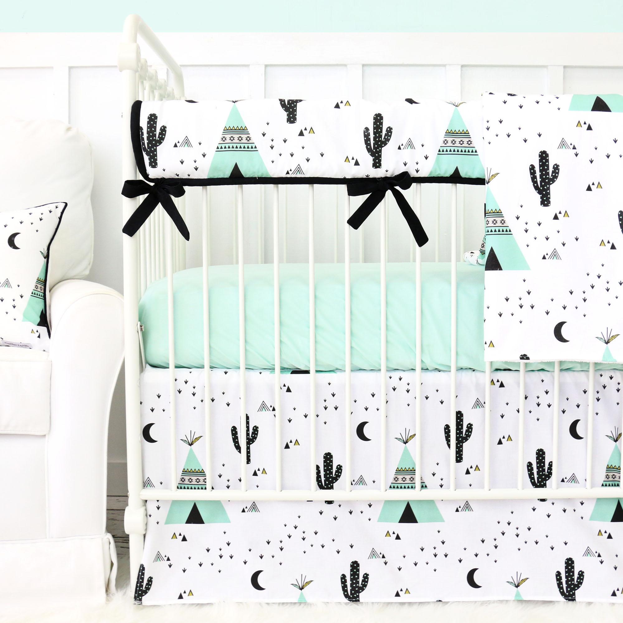 Caden Lane Cactus Teepee Baby Bedding