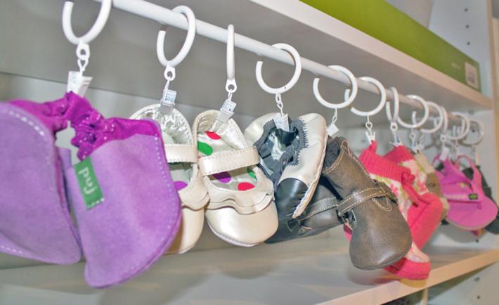 Baby Shoe Organization