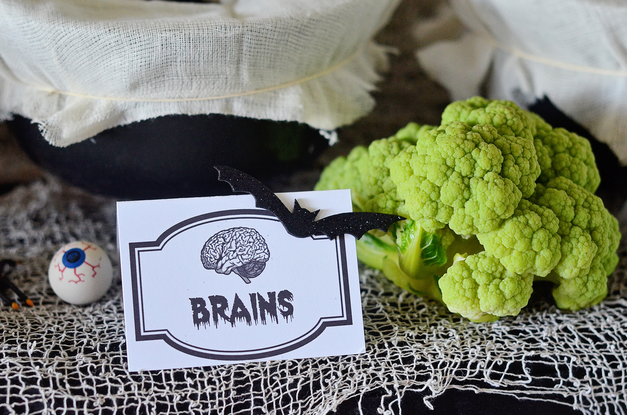 Brains! Boiled green cauliflower