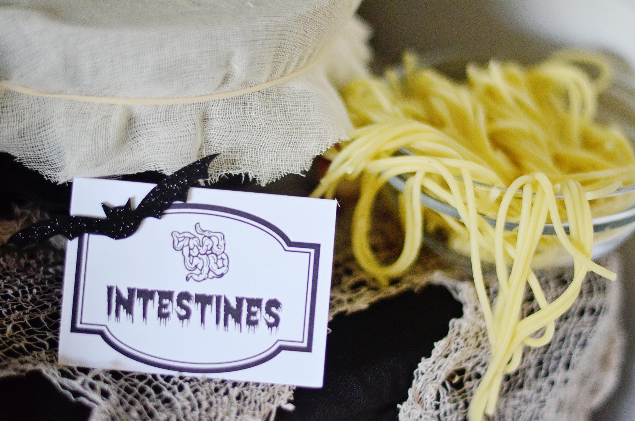 Intestines! Cooked Spaghetti