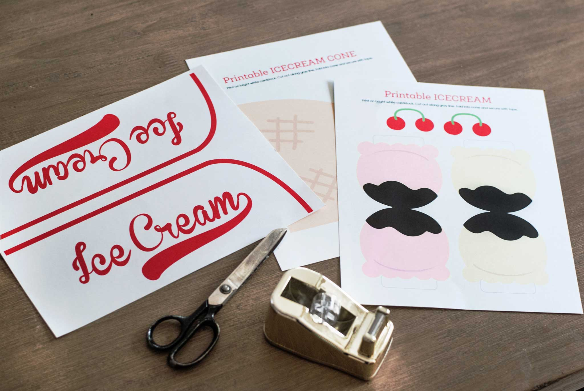 DIY Ice Cream Man Costume Printables