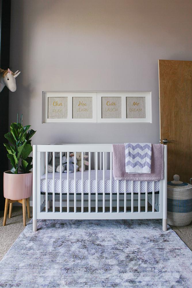 Pink and Blue Modern Nursery