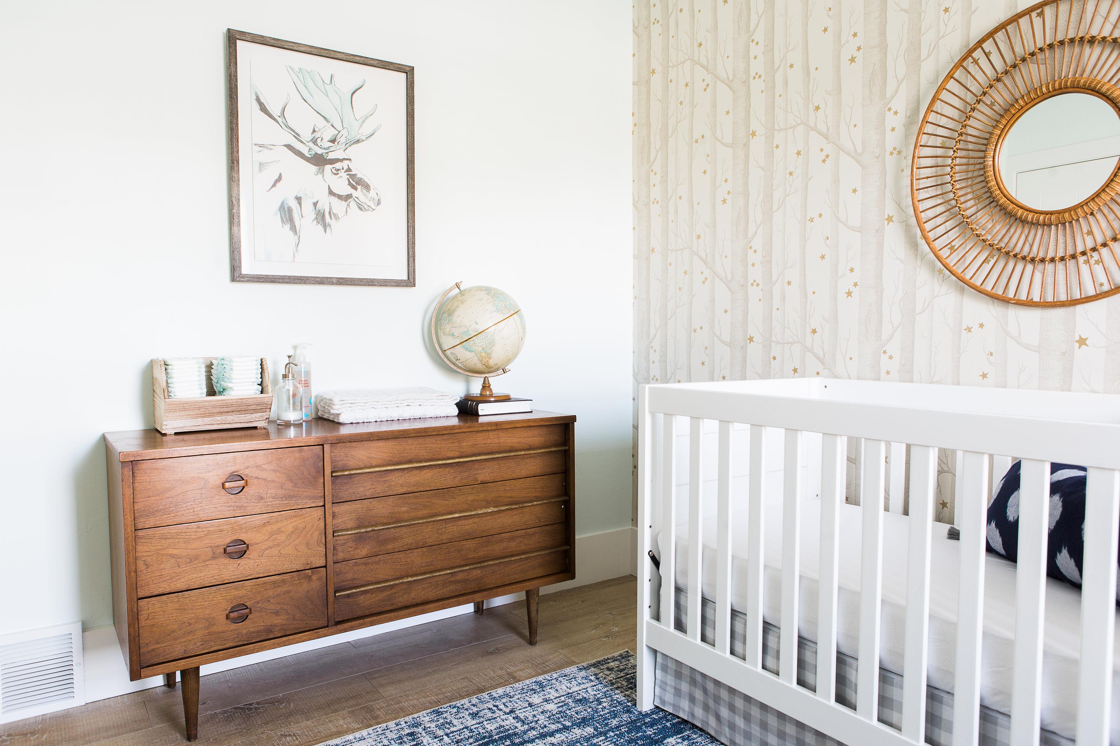 Vintage Modern Woodland-Inspired Nursery