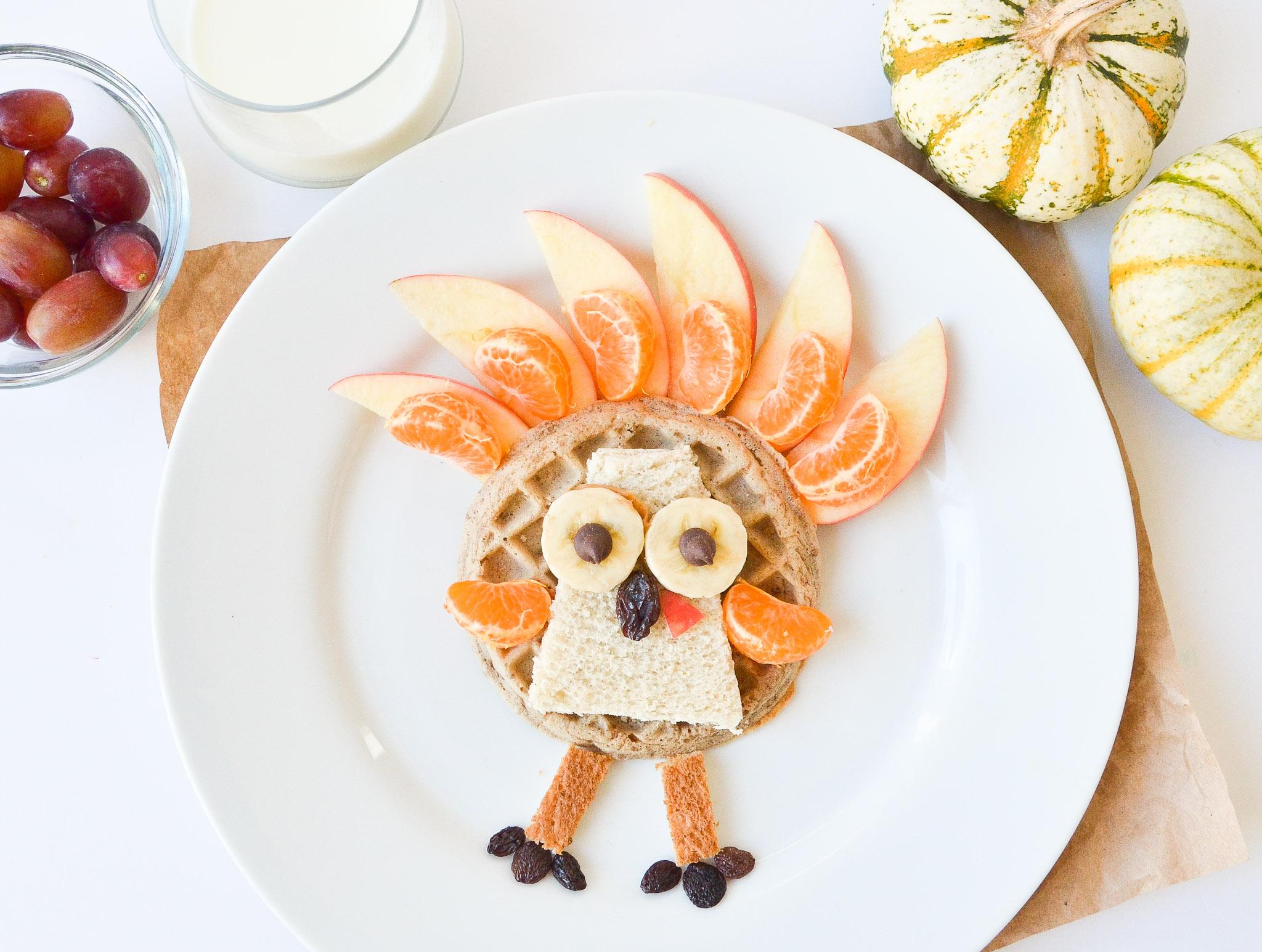 Waffle Turkey Kids Thanksgiving Breakfast
