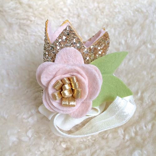 Blush & Gold Mini Sparkle Crown